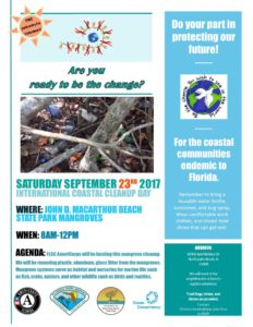 International Coastal Cleanup Day Flyer